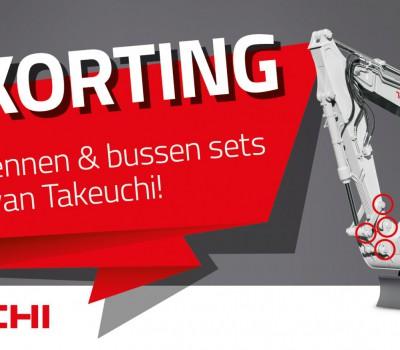 25% de réduction sur les kits d'axes et de bagues Takeuchi pendant tout le mois de février!