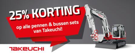 Zomeracties Takeuchi onderdelen!