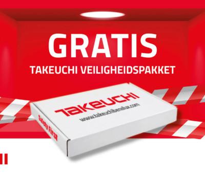 Gratis Takeuchi Veiligheidspakket bij aankoop van meer dan €100,-
