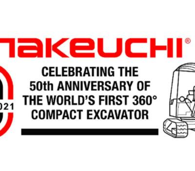Voici 50 ans, Takeuchi mettait au point la première mini-pelle capable de tourner à 360 degrés : la TB1000 !