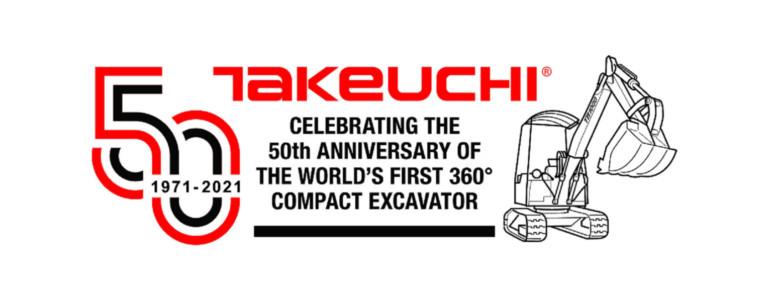 50 jaar geleden ontwikkelde Takeuchi de eerste minigraver die 360° kon draaien: de TB1000!